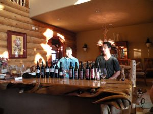 L-R: Andrew Minor and Justin Basel of Basel Cellars (photo: Gretchen Sorensen)
