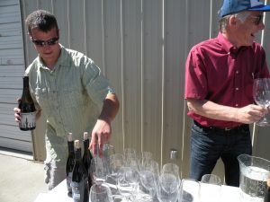 L-R: Shane McKibben and Norm McKibben of Les Collines Vineyard (photo: Gretchen Sorensen)