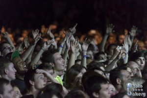 Crowd at Lumineers set (photo: Jim Bennett)