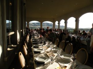 Dinner on the veranda at Terra Blanca Winery and Estate Vineyard at Red Mountain (photo: Gretchen Sorensen)
