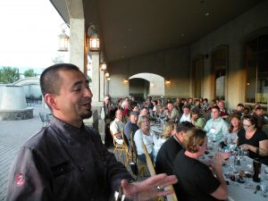 Executive chef Frank Magana after dinner at Terra Blanca (photo: Gretchen Sorensen)