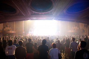 Flaming Lips fans at the Paramount (photo: Jim Bennett)