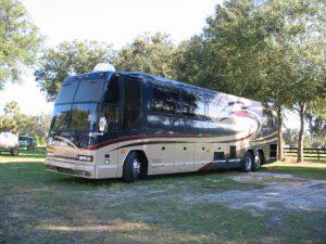 The Dears' tour bus