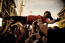 Crowd surfing at Capitol Hill Block Party (Hilary Harris photo)