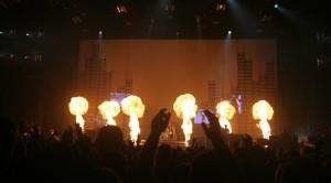 Pyrotechnics at the Green Day concert (photo: www.stevenfriederich.com