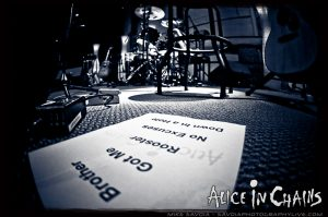 Alice in Chains set list before the show (Savoia Photography Live)