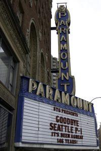 Paramount Theatre sign