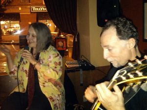 Carolyn Graye and Doug Zangar at Lombardi's (photo: G. Stout)