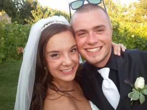 Newlyweds Molly and Chris (photo: Gene Stout)