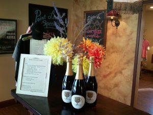 Wine display at Hard Row to Hoe (photo: Gene Stout)