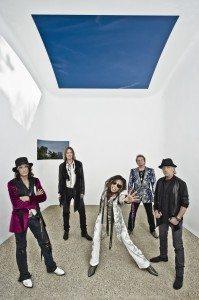 Joe Perry, far left, and Aerosmith (photo: Ross Halfin)