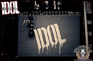 Billy Idol logo (photo: Mike Savoia)