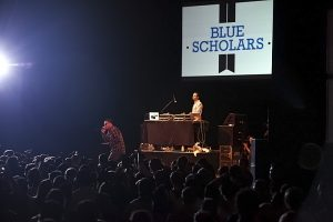 Blue Scholars on stage (photo: Alex Crick)