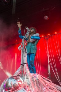 Wayne Coyne of The Flaming Lips on Sunday (photo: Jim Bennett)