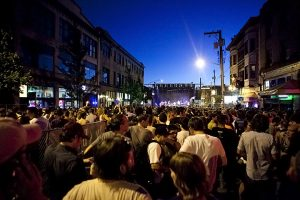 Crowds at Block Party (photo: Alex Crick)