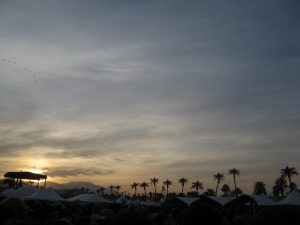 Coachella festival at sunset (photo: Mark Stock)