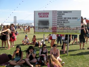 Schedule at Coachella (photo: Mark Stock)