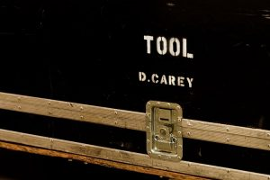 Danny Carey's gear case (photo: Kam Martin)