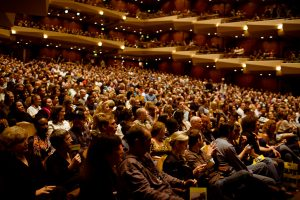 Audience at Benaroya Hall (photo: Christopher Nelson)