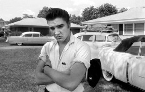 Elvis Presley and his early Cadillacs