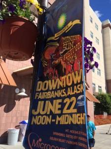 Midnight Sun Festival poster in downtown Fairbanks (photo: Gene Stout)