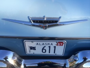1957 Ford with vintage Alaska license plate (photo: Gene Stout)
