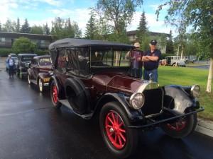 Vintage cars gather for a tour of Fairbanks (photo: Gene Stout)