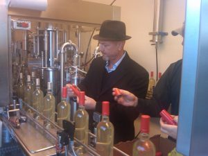Geoff Tate at the bottling of Insania white