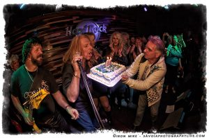 McJohn and his birthday cake (photo: Mike Savoia)