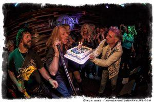 McJohn and his birthday cake (photo: Mike Savoia)
