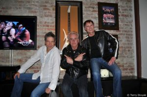L-R: Roger Fisher, Howard Leese and Steve Fossen at the Hard Rock Cafe (photo: Terry Divyak)