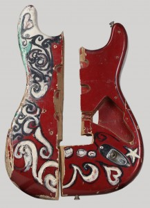 Smashed guitar from Saville Theatre concert (image: EMP Museum)