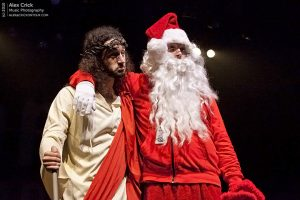Jesus and Santa Claus (photo: Alex Crick)