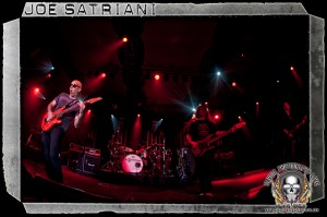 Joe Satriani (left) and bassist Allen Whitman (photo: Mike Savoia)