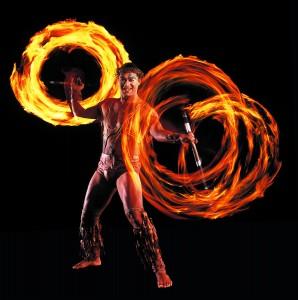 KOOZA fire knife dance (photo: Camirand)
