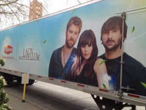 Lady Antebellum semi-trailer at KeyArena (photo: Gene Stout)