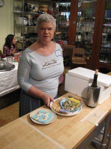 Food writer Leslie Kelly