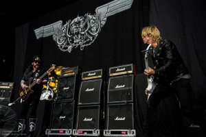 Lemmy Kilmister and Duff McKagan, right (photo: Daniel Zetterstrom)