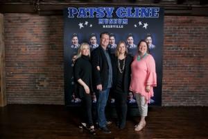 Museum founders Shannon and Bill Miller, Nashville mayor Megan Barry and Cline's daughter, Julie Fudge (photo credit: Erin Lee Allender)