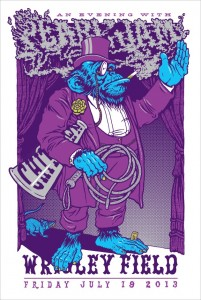 Pearl Jam poster of 2013 Chicago concert (credit: Ames Bros.)