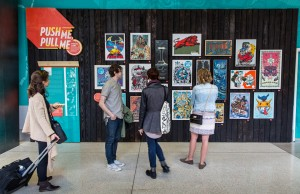 Pearl Jam poster exhibit (photo: Don Wilson / Port of Seattle)