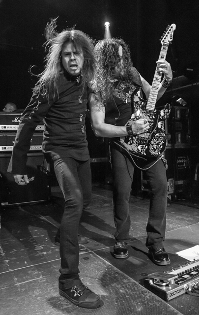 L-R: Todd La Torre and Michael Wilton of Queensryche at The O2 Academy Islington (photo: John Brott)