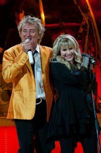 Rod Stewart and Stevie Nicks at KeyArena (photo: Matthew Lamb)