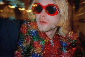 Kurt Cobain at MTV event in 1993 (photo: Alice Wheeler)