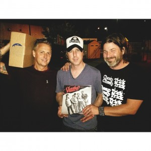 L-R: Mike McCready, Chris Friel and Rick Friel of Shadow (photo: George Webb)