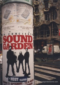 Soundgarden poster (photo: Matt Cameron)