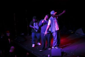 Rapper D.Black and crew (photo: Christopher Nelson)