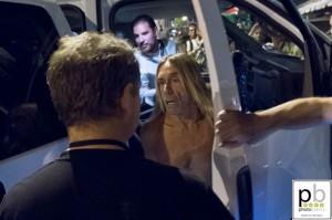 Iggy Pop arriving at Mohawk (photo: Jim Bennett)