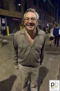 Mike Watt outside Mohawk (photo: Jim Bennett)
