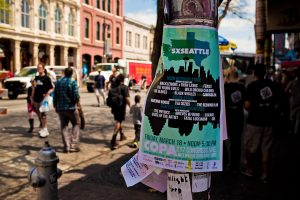 Poster for SXSeattle (photo: Christopher Nelson)